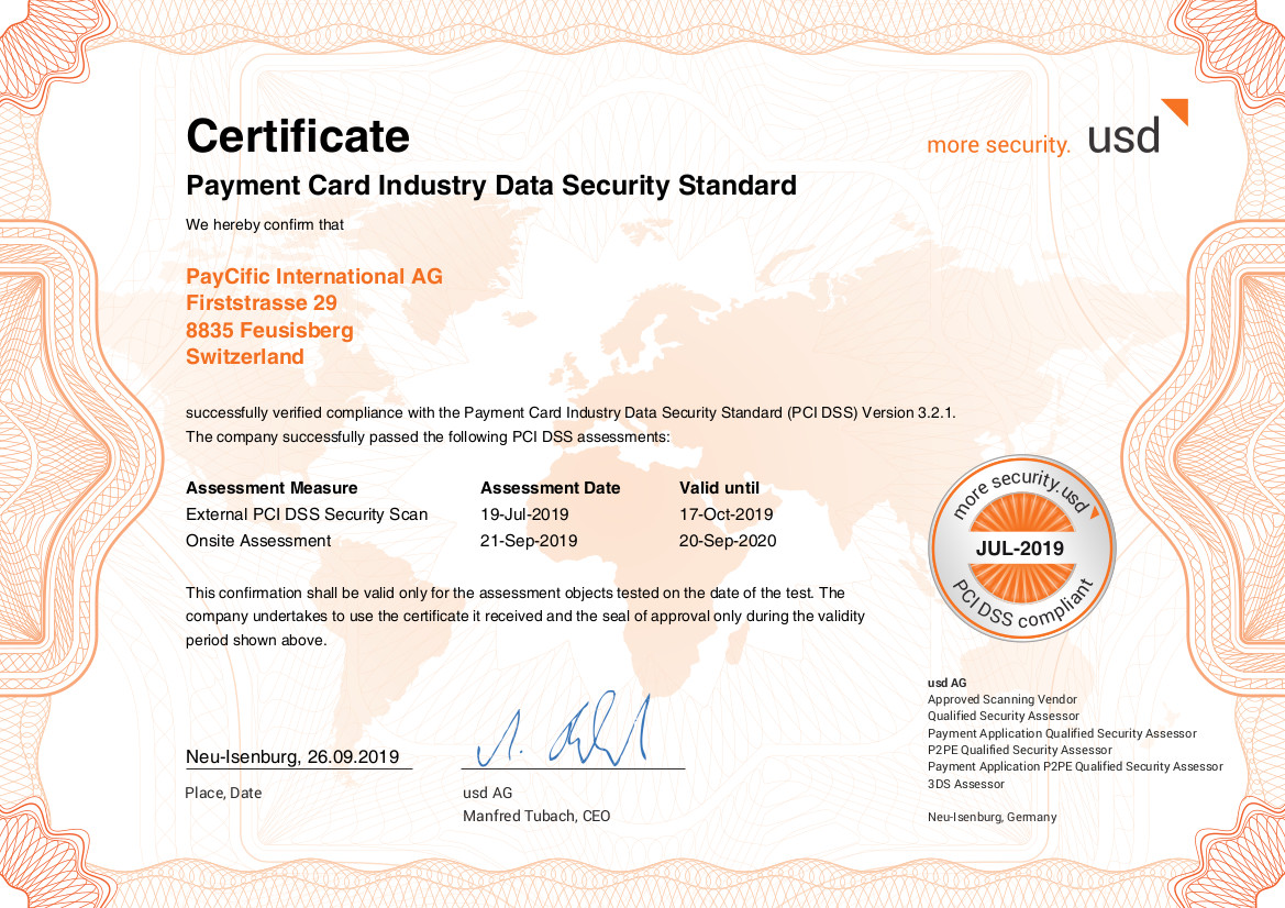 Certificate pci audit en